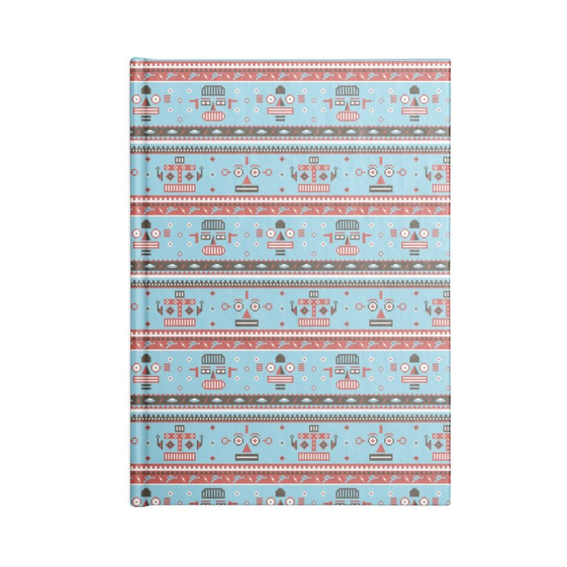 Navajo Bots Accessories Lined Journal Notebook by Victor Calahan