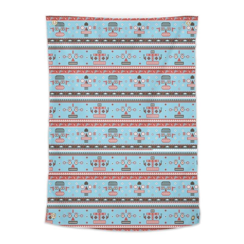 Navajo Bots Home Tapestry by Victor Calahan