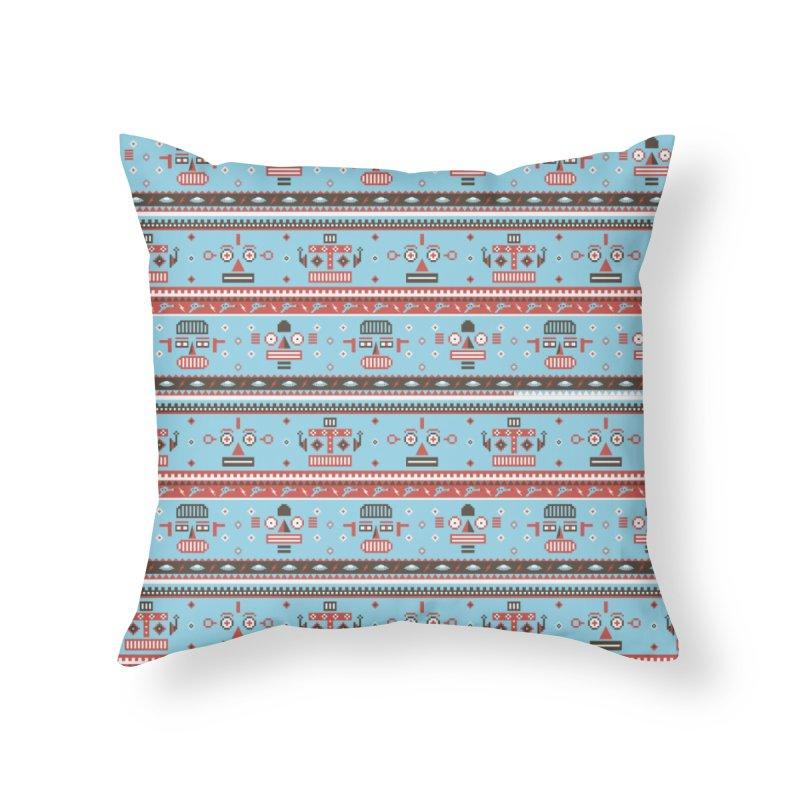 Navajo Bots Home Throw Pillow by Victor Calahan