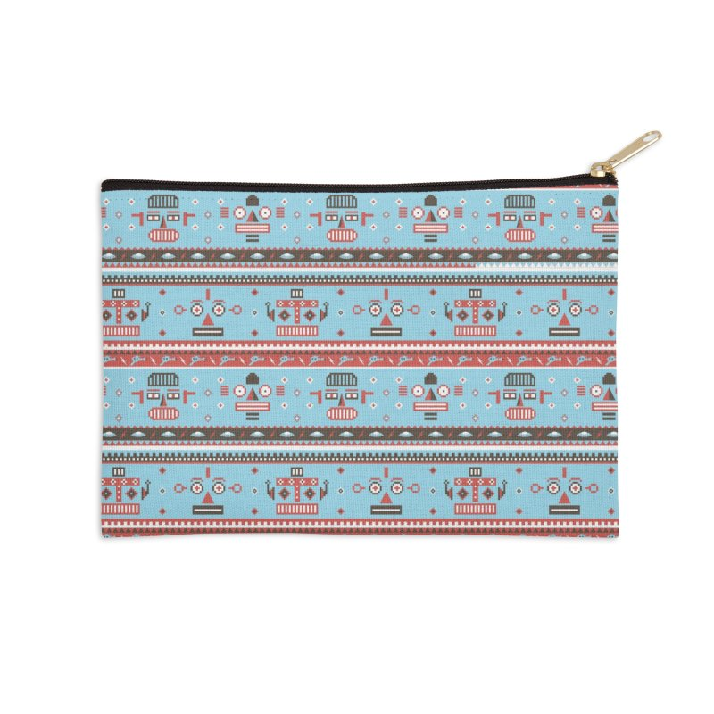 Navajo Bots Accessories Zip Pouch by Victor Calahan
