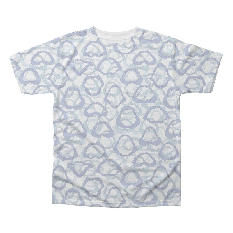 Jaws in Men's Triblend All Over Print by Victor Calahan