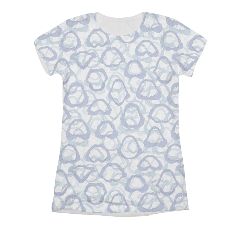 Jaws Women's Triblend All Over Print by Victor Calahan