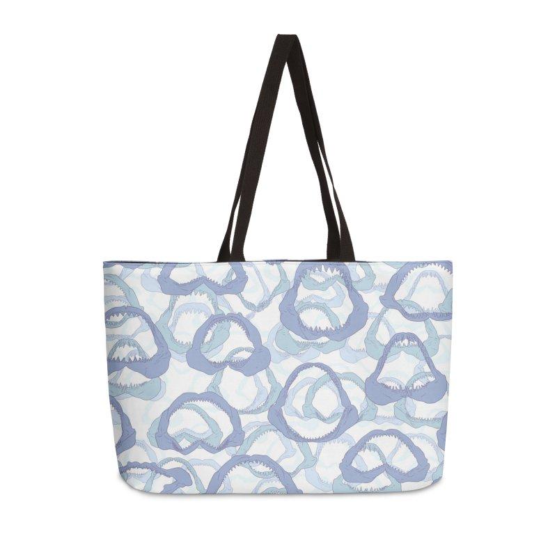 Jaws in Weekender Bag by Victor Calahan