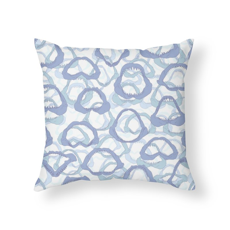 Jaws Home Throw Pillow by Victor Calahan