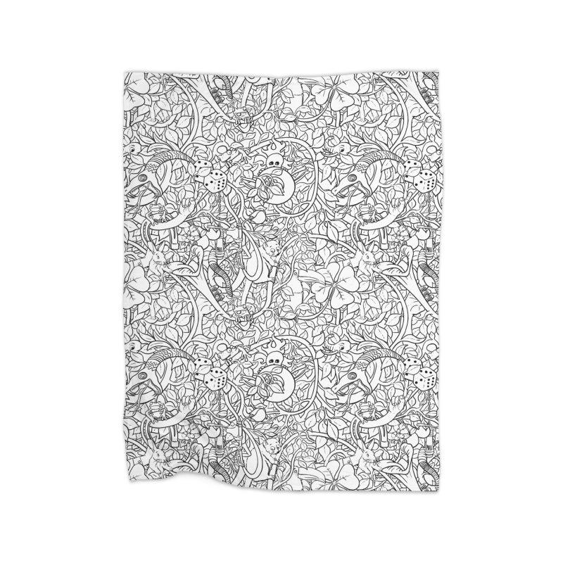 Mojo Jungle Home Blanket by Victor Calahan