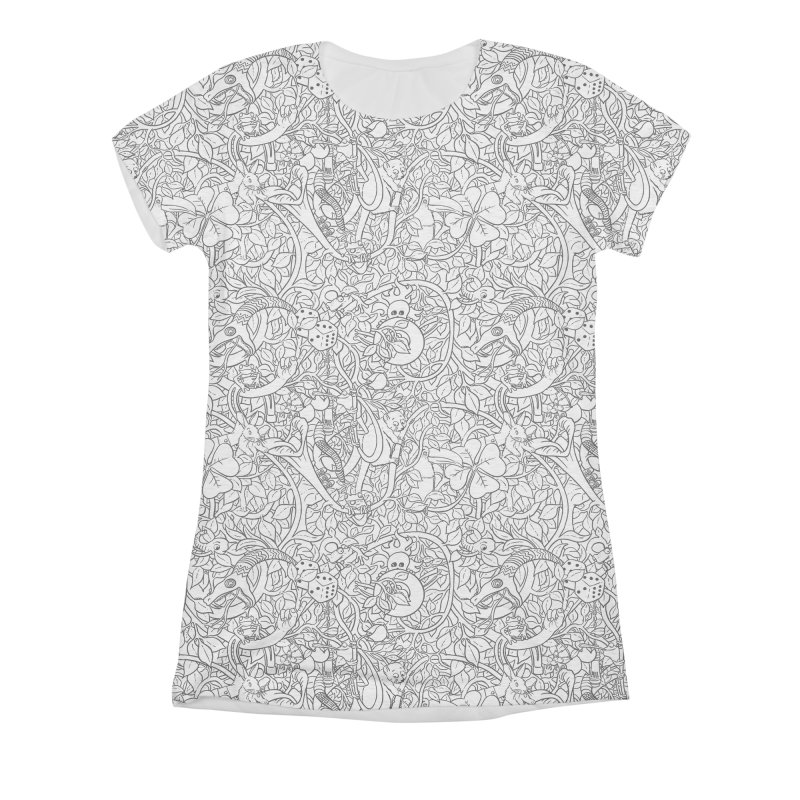 Mojo Jungle Women's Triblend All Over Print by Victor Calahan