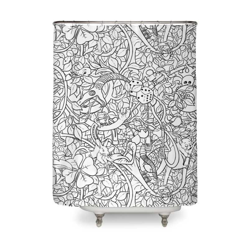 Mojo Jungle Home Shower Curtain by Victor Calahan
