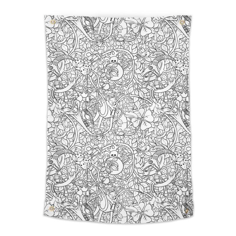 Mojo Jungle Home Tapestry by Victor Calahan