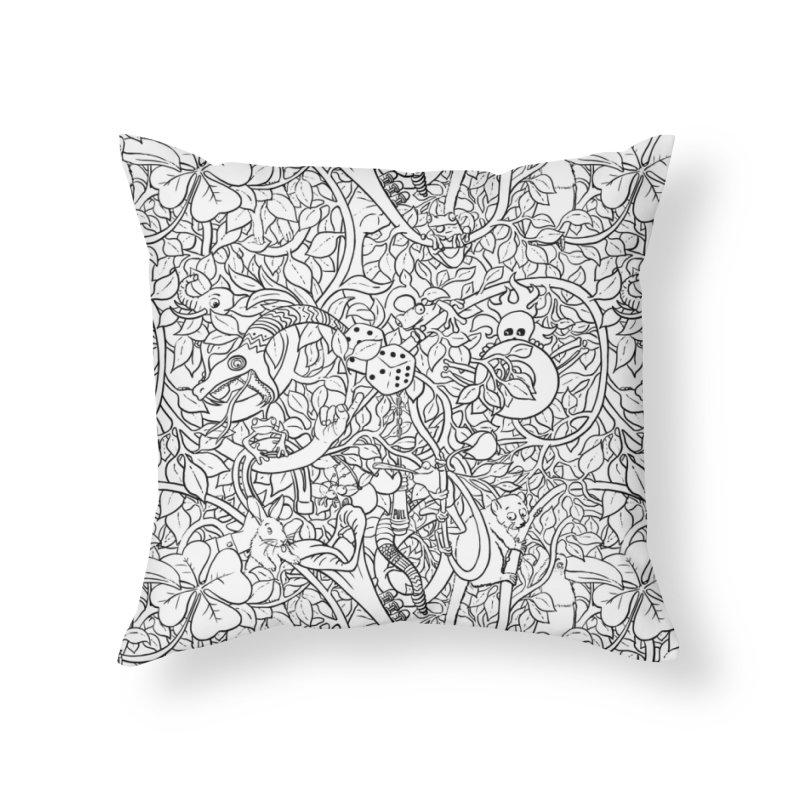 Mojo Jungle Home Throw Pillow by Victor Calahan
