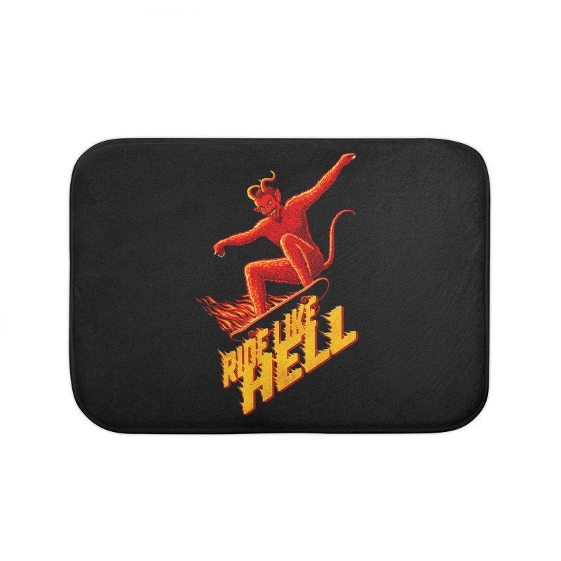 Like Hell Home Bath Mat by Victor Calahan