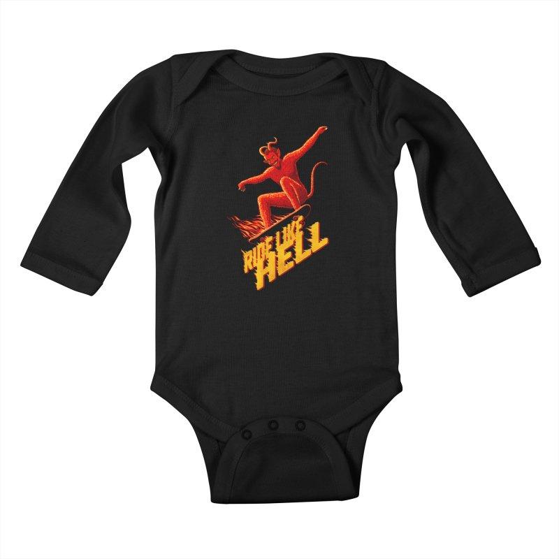 Like Hell Kids Baby Longsleeve Bodysuit by Victor Calahan
