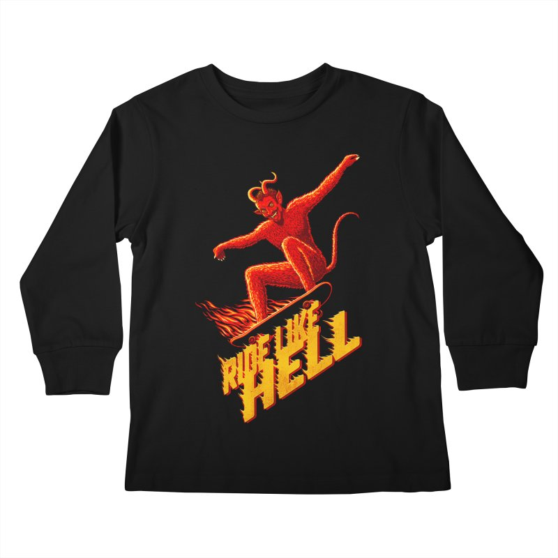 Like Hell Kids Longsleeve T-Shirt by Victor Calahan