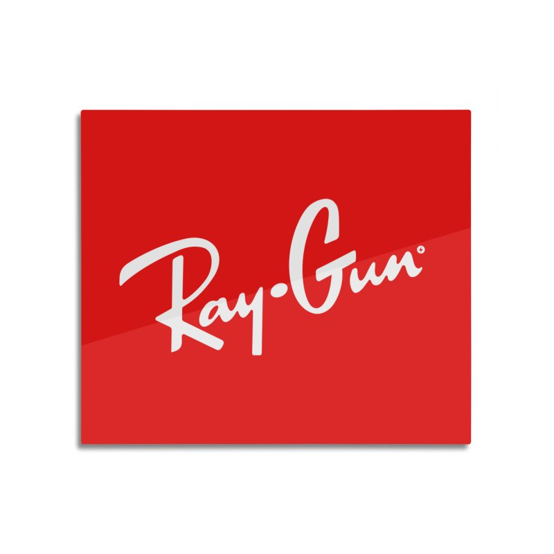 Ray-Gun Home Mounted Aluminum Print by Victor Calahan