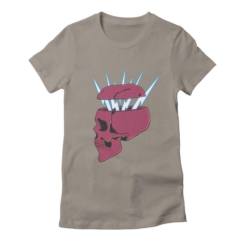 SKULL 'N BOLT Women's Fitted T-Shirt by victorfelix's Artist Shop