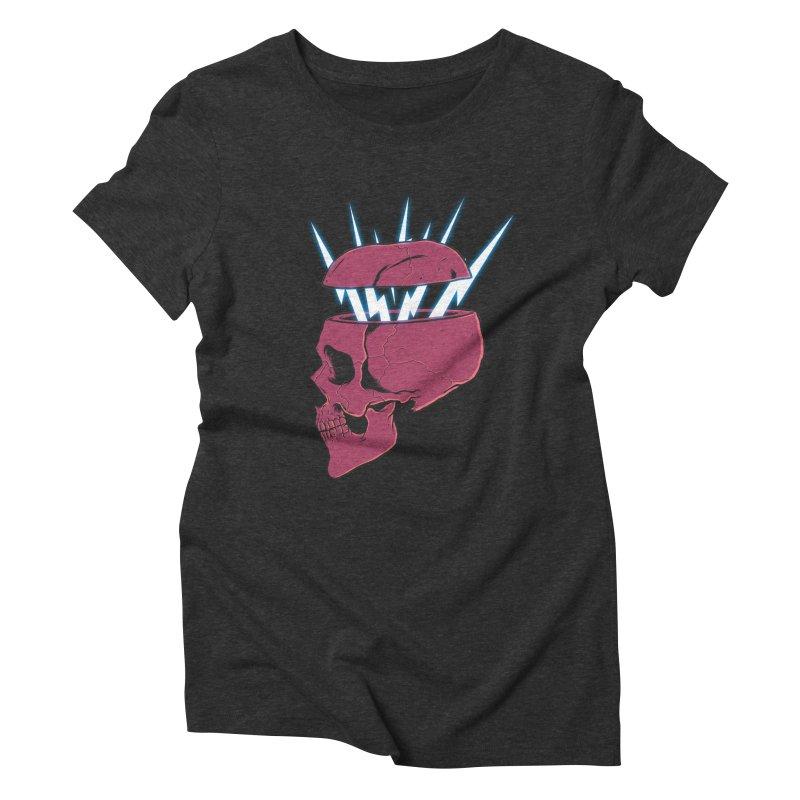 SKULL 'N BOLT Women's Triblend T-Shirt by victorfelix's Artist Shop