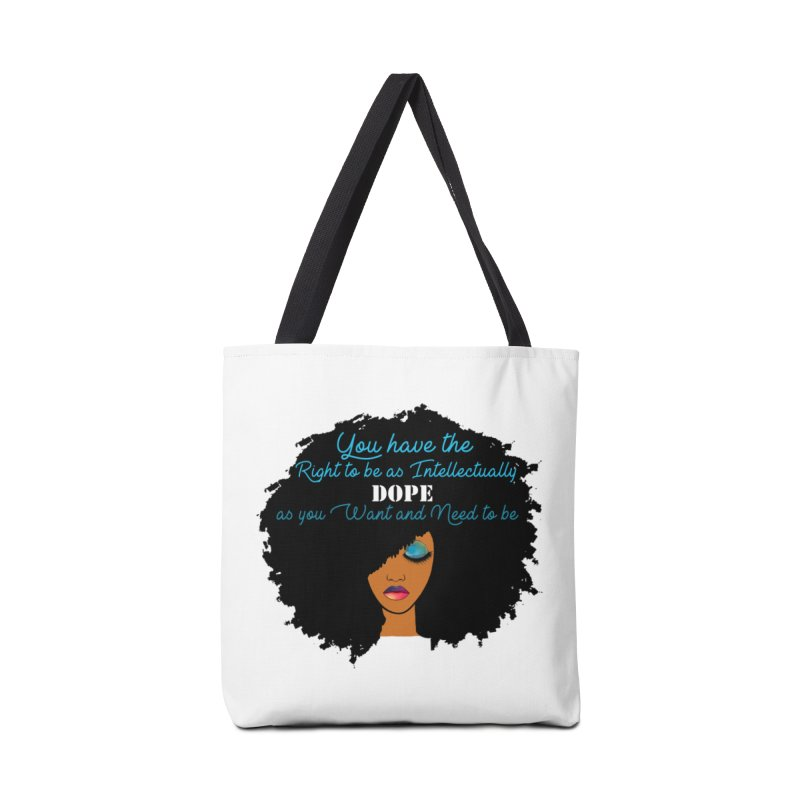 Intellectually DOPE Accessories Tote Bag Bag by Victoria Parham's Sassy Quotes Shop