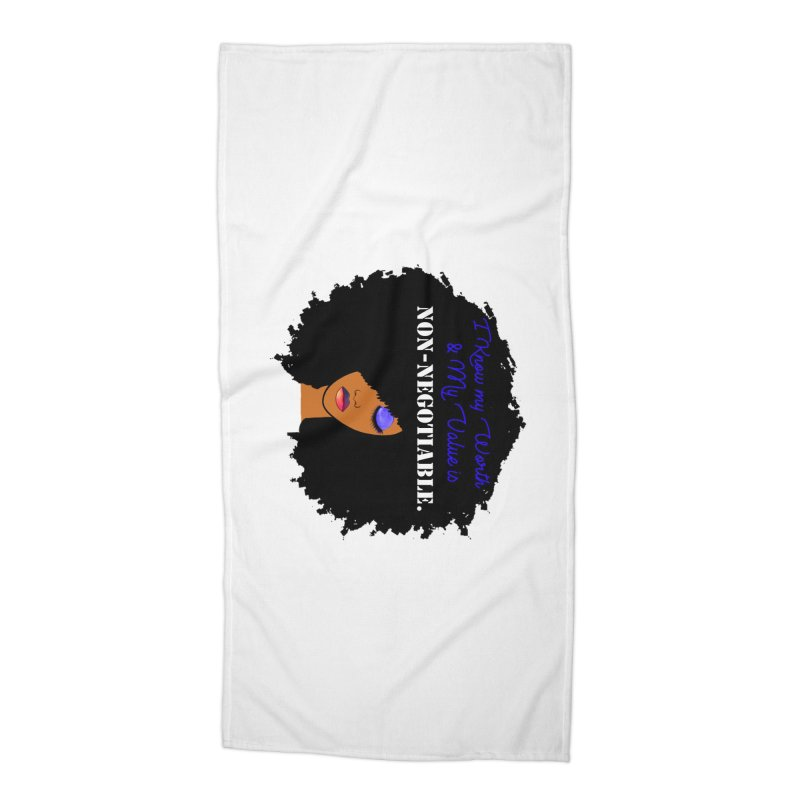 I Know my Value Accessories Beach Towel by Victoria Parham's Sassy Quotes Shop