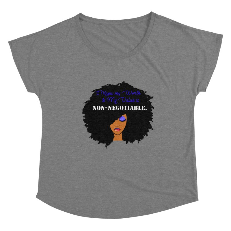 I Know my Value Women's Scoop Neck by Victoria Parham's Sassy Quotes Shop