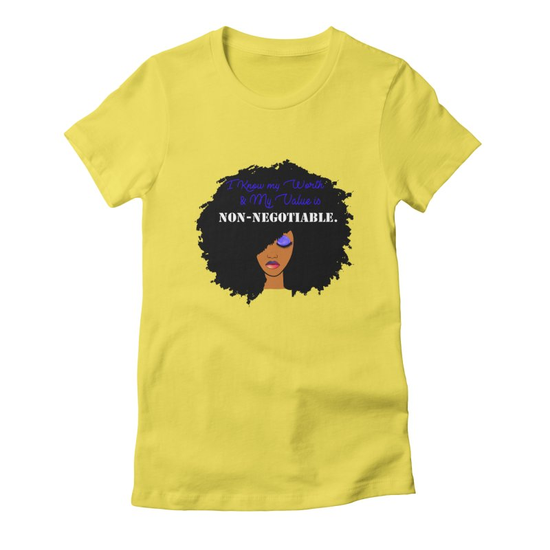 I Know my Value Women's Fitted T-Shirt by Victoria Parham's Sassy Quotes Shop