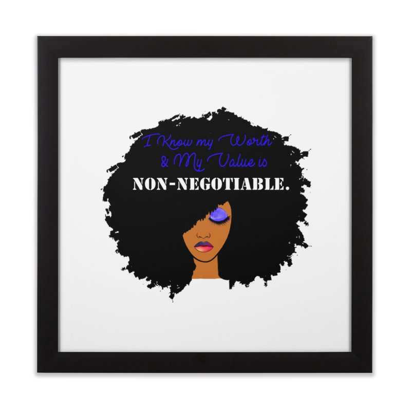I Know my Value Home Framed Fine Art Print by Victoria Parham's Sassy Quotes Shop