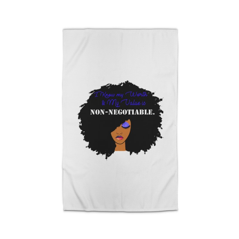 I Know my Value Home Rug by Victoria Parham's Sassy Quotes Shop