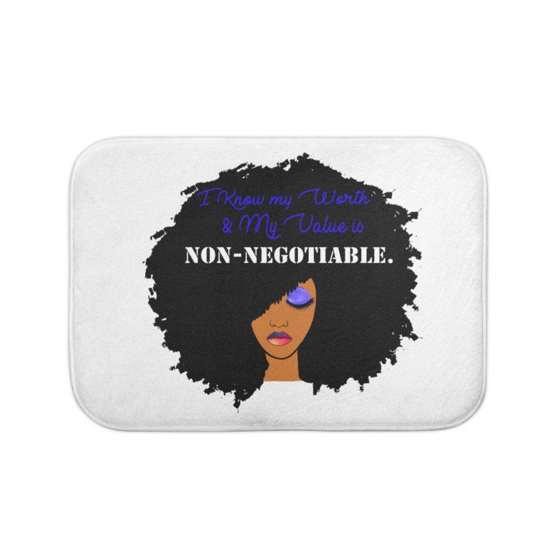 I Know my Value Home Bath Mat by Victoria Parham's Sassy Quotes Shop