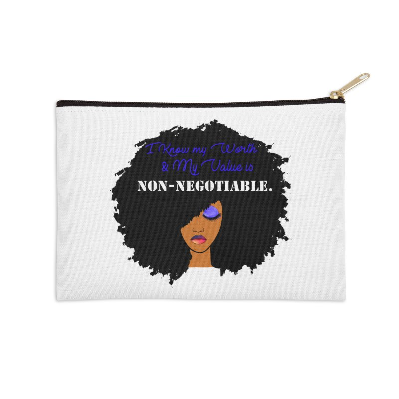 I Know my Value Accessories Zip Pouch by Victoria Parham's Sassy Quotes Shop