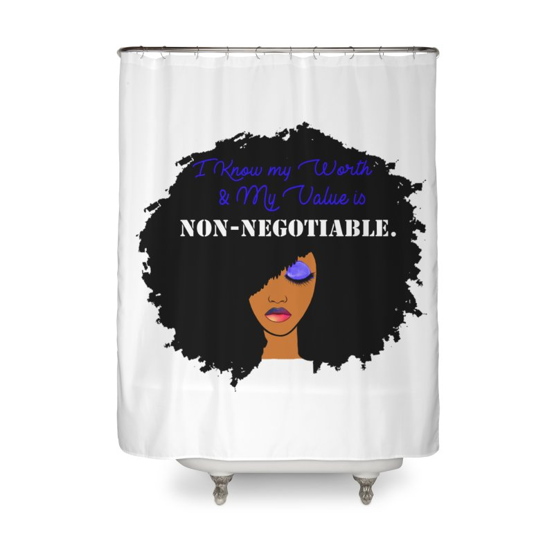 I Know my Value Home Shower Curtain by Victoria Parham's Sassy Quotes Shop