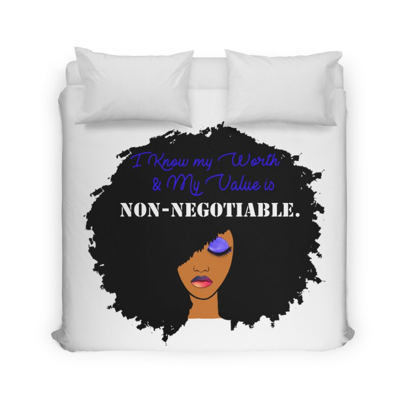 I Know my Value Home Duvet by Victoria Parham's Sassy Quotes Shop