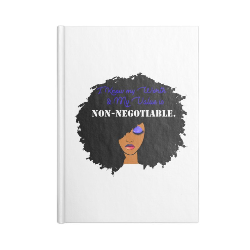 I Know my Value Accessories Notebook by Victoria Parham's Sassy Quotes Shop