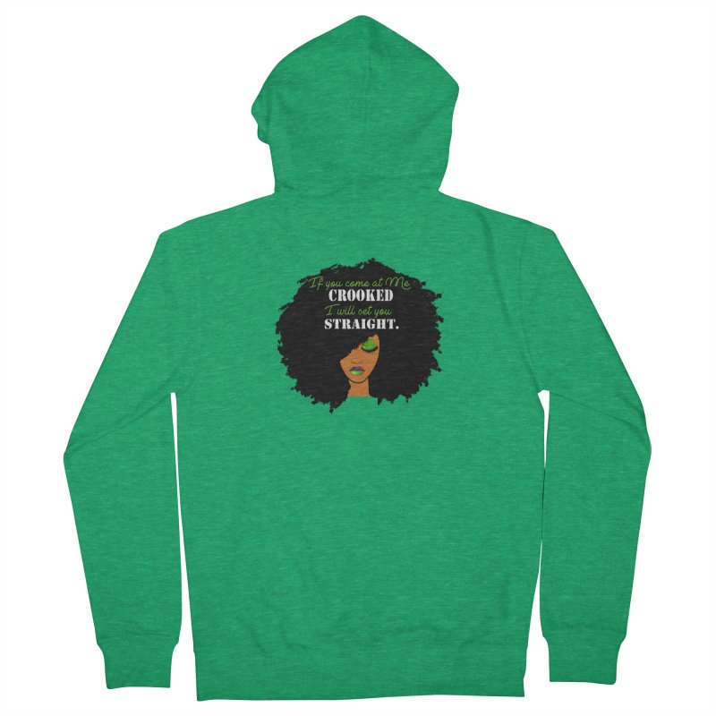 Don't Come at Me Crooked Men's Zip-Up Hoody by Victoria Parham's Sassy Quotes Shop