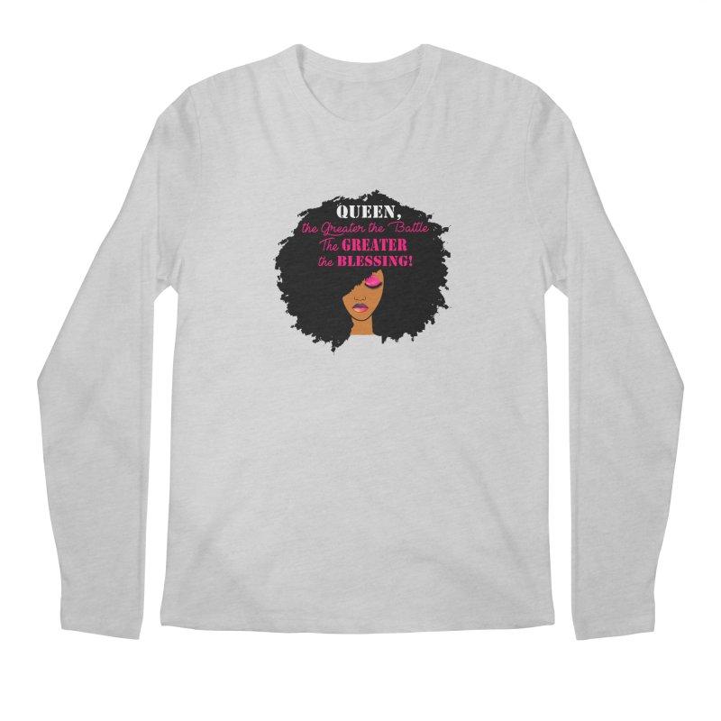 Queen Men's Regular Longsleeve T-Shirt by Victoria Parham's Sassy Quotes Shop