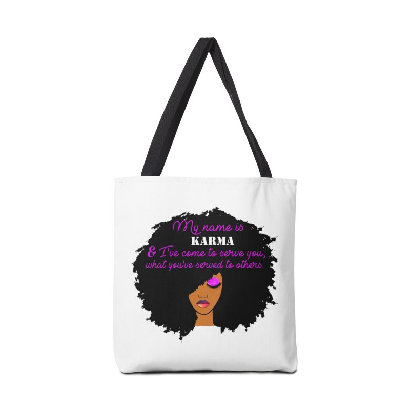 My Name is Karma Accessories Tote Bag Bag by Victoria Parham's Sassy Quotes Shop