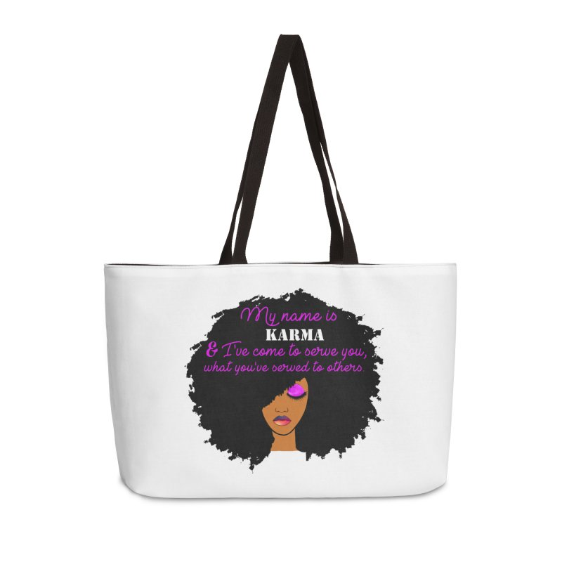 My Name is Karma Accessories Bag by Victoria Parham's Sassy Quotes Shop