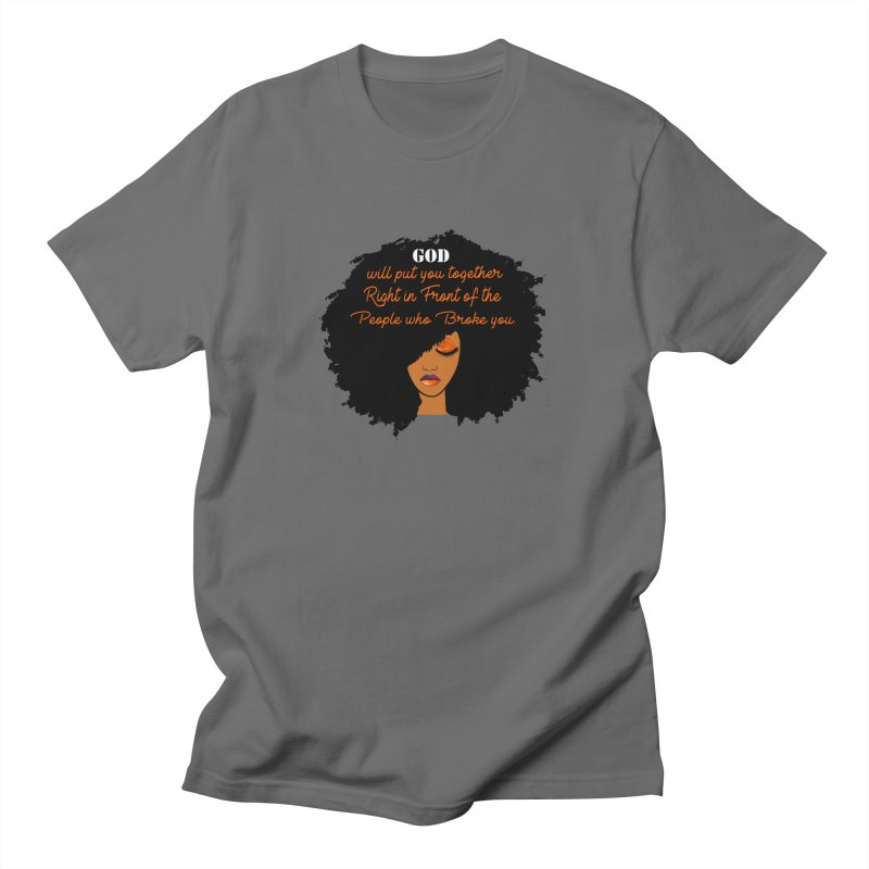 Woman of Faith Men's T-Shirt by Victoria Parham's Sassy Quotes Shop