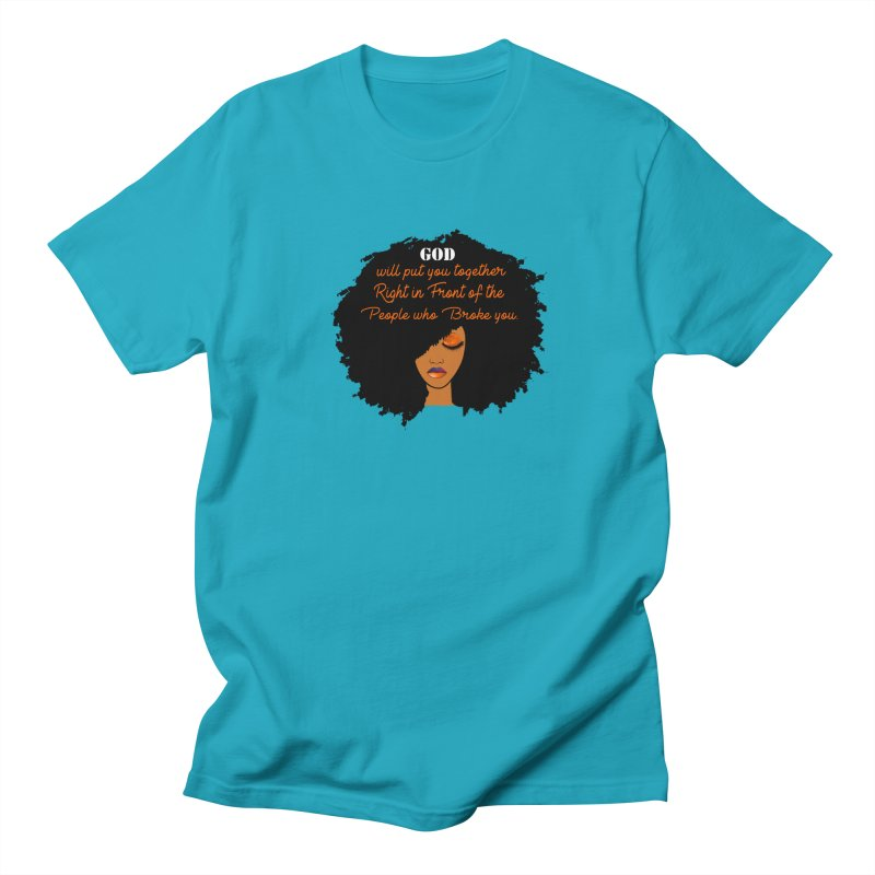 Woman of Faith Men's Regular T-Shirt by Victoria Parham's Sassy Quotes Shop