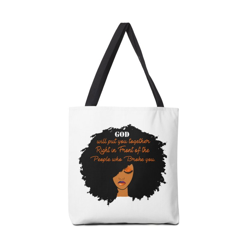 Woman of Faith Accessories Tote Bag Bag by Victoria Parham's Sassy Quotes Shop