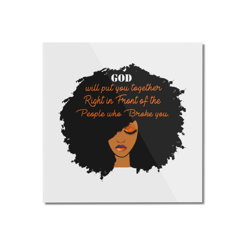 Woman of Faith Home Mounted Acrylic Print by Victoria Parham's Sassy Quotes Shop