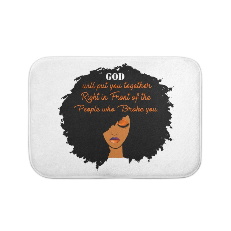 Woman of Faith Home Bath Mat by Victoria Parham's Sassy Quotes Shop