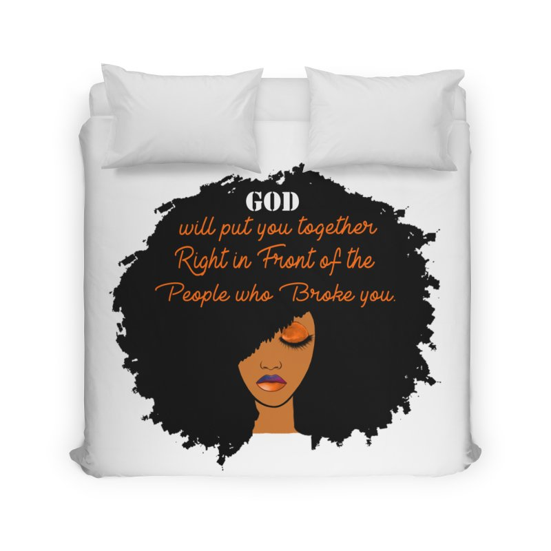 Woman of Faith Home Duvet by Victoria Parham's Sassy Quotes Shop