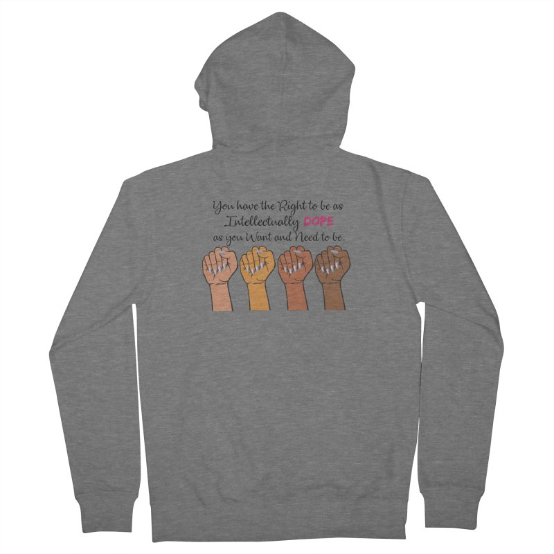 Intellectually DOPE - Melanin Women in Power Men's Zip-Up Hoody by Victoria Parham's Sassy Quotes Shop