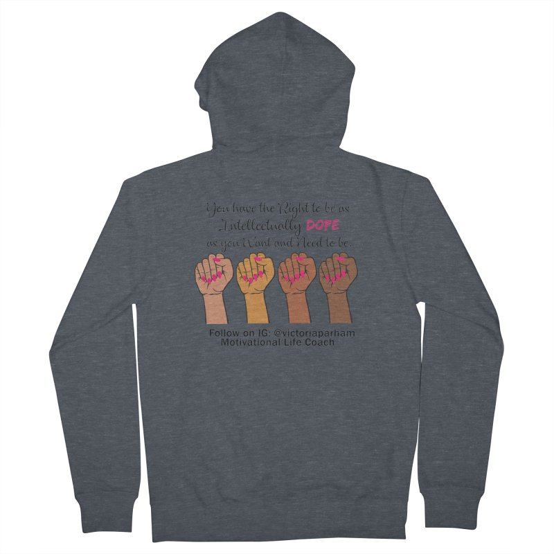 Intellectually DOPE - Melanin Women in Power - Branded Coaching Item Men's Zip-Up Hoody by Victoria Parham's Sassy Quotes Shop