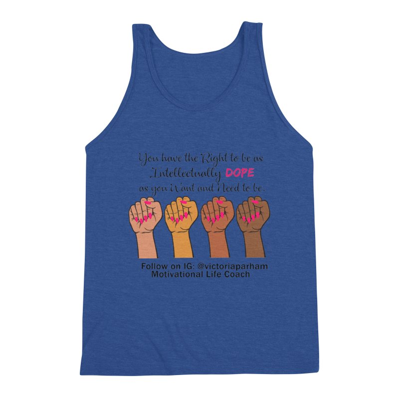 Intellectually DOPE - Melanin Women in Power - Branded Coaching Item Men's Tank by Victoria Parham's Sassy Quotes Shop