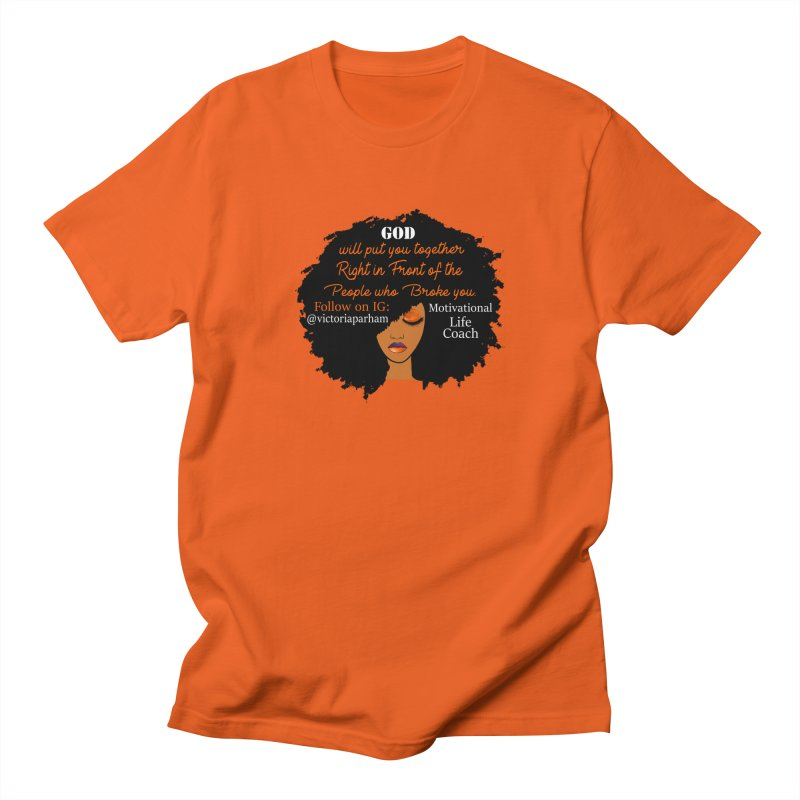 Woman of Faith - Branded Life Coaching item Men's T-Shirt by Victoria Parham's Sassy Quotes Shop