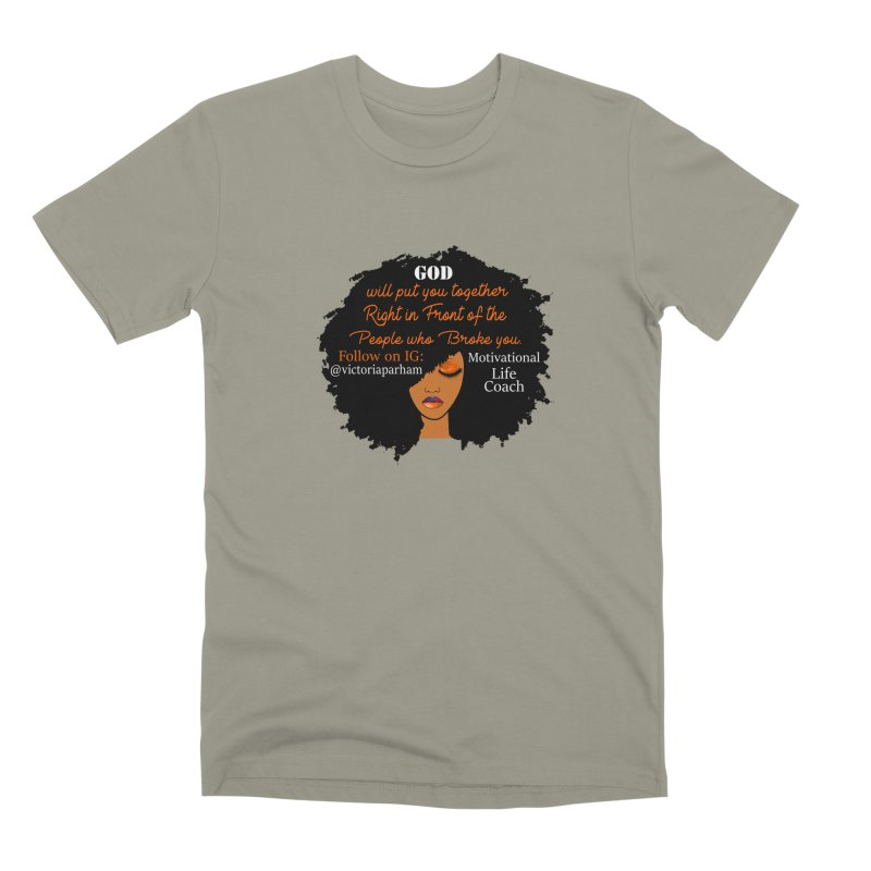 Woman of Faith - Branded Life Coaching item Men's Premium T-Shirt by Victoria Parham's Sassy Quotes Shop