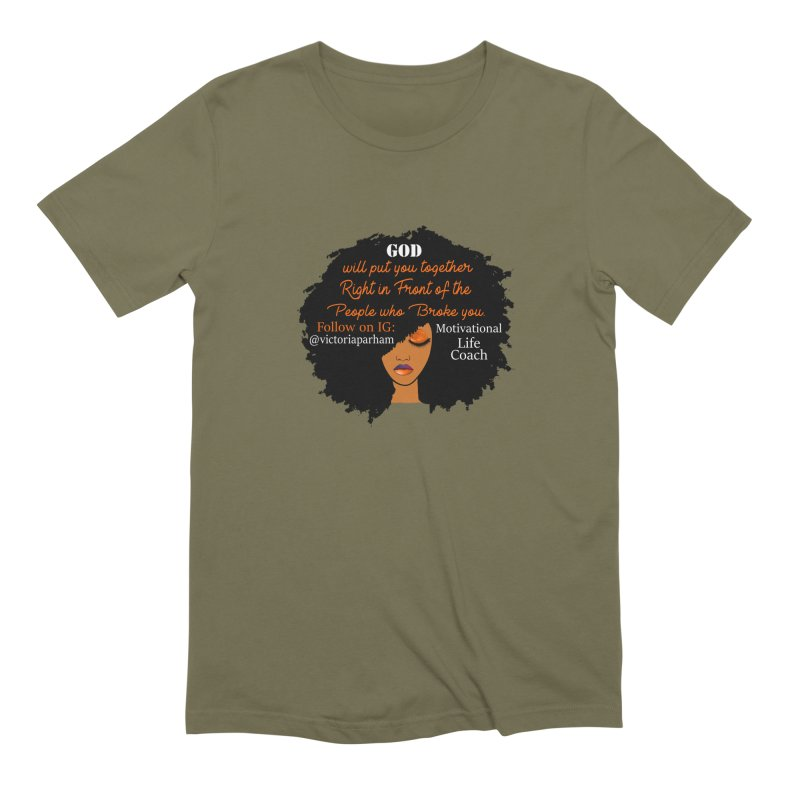 Woman of Faith - Branded Life Coaching item Men's Extra Soft T-Shirt by Victoria Parham's Sassy Quotes Shop