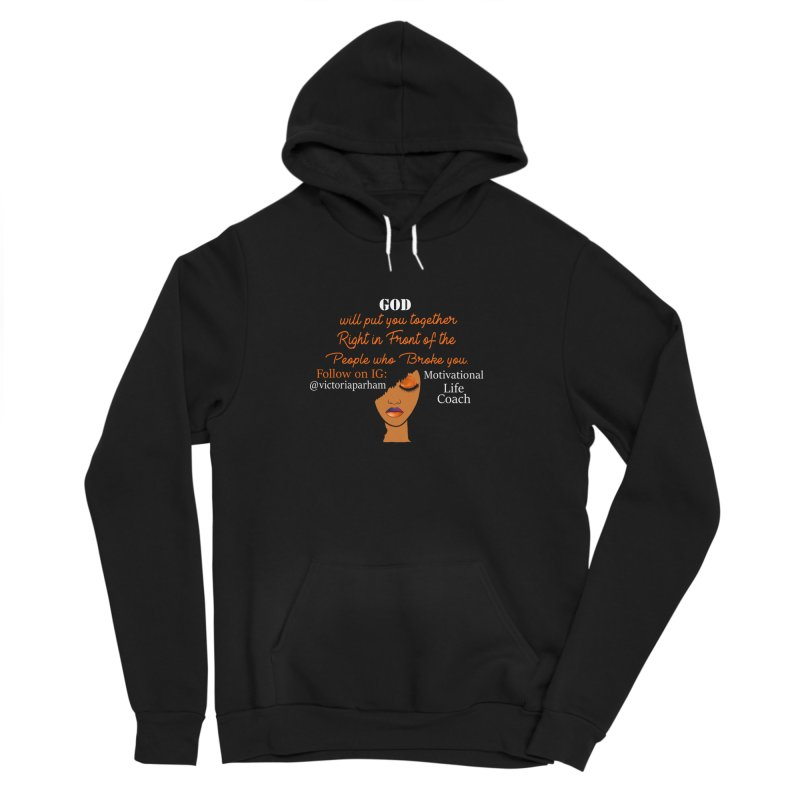 Woman of Faith - Branded Life Coaching item Men's Sponge Fleece Pullover Hoody by Victoria Parham's Sassy Quotes Shop