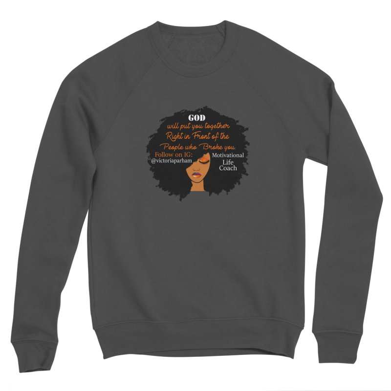 Woman of Faith - Branded Life Coaching item Men's Sweatshirt by Victoria Parham's Sassy Quotes Shop