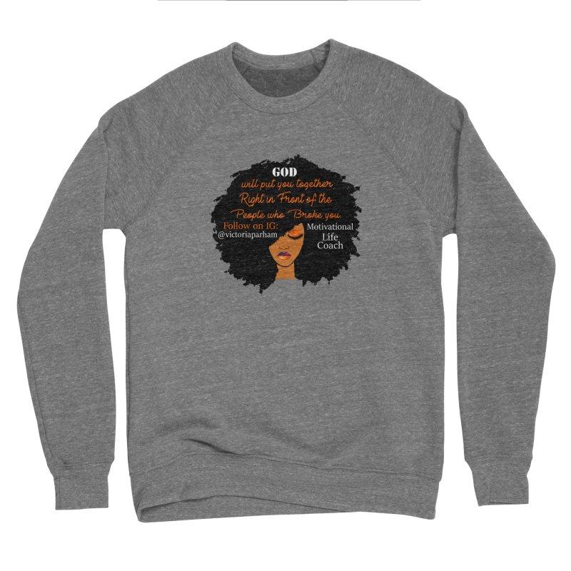 Woman of Faith - Branded Life Coaching item Men's Sponge Fleece Sweatshirt by Victoria Parham's Sassy Quotes Shop