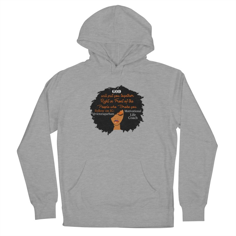 Woman of Faith - Branded Life Coaching item Women's French Terry Pullover Hoody by Victoria Parham's Sassy Quotes Shop